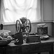 The Old Table By The Window - Wonderful Memories Of The Past - 19th Century Table And Window Print by Gary Heller