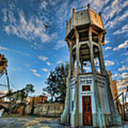 The Old Water Tower Of Tel Aviv Print by Ron Shoshani
