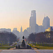 The Parkway In The Morning Print by Bill Cannon