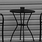 The Patio In Black And White Print by Rob Hans