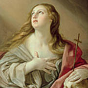 The Penitent Magdalene Print by Guido Reni