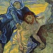 The Pieta After Delacroix 1889 Print by Vincent Van Gogh