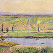 The Plain Of Gennevilliers From The Hills Of Argenteuil Print by Gustave Caillebotte