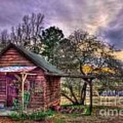 The Play House At Sunset Near Lake Oconee. Print by Reid Callaway