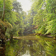 The Quiet River Print by Peder Monsted