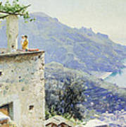 The Ravello Coastline Print by Peder Monsted