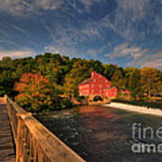 The Red Mill Print by Paul Ward