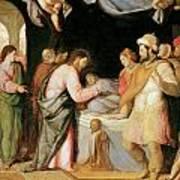 The Resurrection Of Jairus's Daughter Print by Santi Di tito