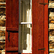 The Reynold's Cabin Window Print by Catherine Fenner
