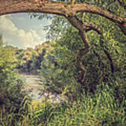 The River Severn At Buildwas Print by Amanda Elwell