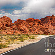 The Road To The Valley Of Fire Print by Jane Rix