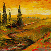 The Road To Tuscany Print by Larry Martin
