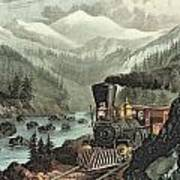The Route To California Print by Currier and Ives