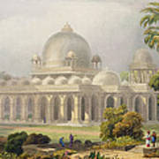 The Roza At Mehmoodabad In Guzerat, Or Print by Captain Robert M. Grindlay