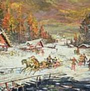 The Russian Winter Print by Konstantin Korovin