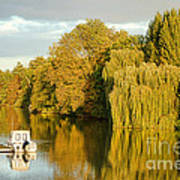 The Seine At Bonnieres Print by Olivier Le Queinec