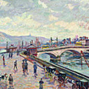 The Seine At Rouen Print by Jean Baptiste Armand Guillaumin
