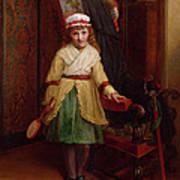 The Shuttlecock Player, 1874 Print by L. Davis