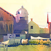 The Side Of A Barn Print by Kris Parins