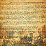 The Signing Of The United States Declaration Of Independence Print by Wingsdomain Art and Photography
