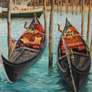 The Symbols Of Venice Print by Kiril Stanchev