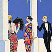 The Taste Of Shawls Print by Georges Barbier