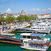 The Town And Port Of La Rochelle Print by Nila Newsom