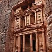 The Treasury In Petra Jordan Print by Robert Preston