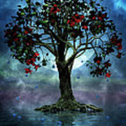 The Tree That Wept A Lake Of Tears Print by John Edwards