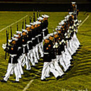 The United States Marine Corps Silent Drill Platoon Print by Robert Bales