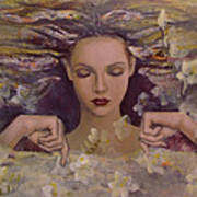 The Voice Of The Thoughts Print by Dorina  Costras
