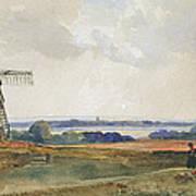 The Windmill Print by Peter de Wint