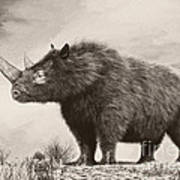 The Woolly Rhinoceros Is An Extinct Print by Philip Brownlow