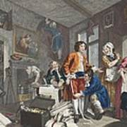 The Young Heir Takes Possession Print by William Hogarth