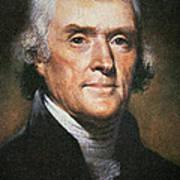 Thomas Jefferson Print by Rembrandt Peale
