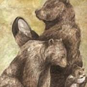 Three Bears Print by Meagan  Visser
