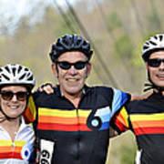Three Gran Fondo Riders Print by Susan Leggett