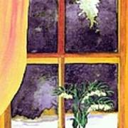 Through The Window Print by Patricia Griffin Brett
