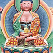 Tibetan Buddhist Deity Sculpture Print by Tim Gainey