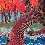 Tiger Lady Print by Diane Fine