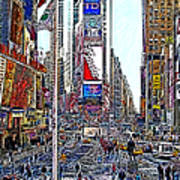 Time Square New York 20130503v6 Print by Wingsdomain Art and Photography