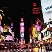 Times Square Print by Andrew Paranavitana
