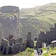 Tintagel Castle Print by Rod Jones