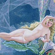 Titania Lying On A Leaf  Print by John Simmons