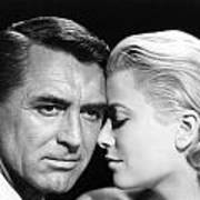 To Catch A Thief Cary Grant And Grace Kelly Print by Silver Screen