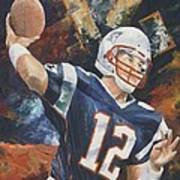 Tom Brady Print by Christiaan Bekker