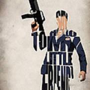 Tony Montana - Al Pacino Print by Ayse Deniz