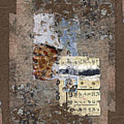 Torn Papers On Wall Print by Carol Leigh