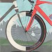 Tour De France Bicycle Print by Andy Scullion