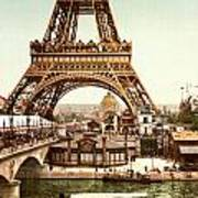 Tour Eiffel And Exposition Universelle Paris Print by Georgia Fowler